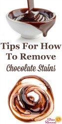 How To Remove Chocolate Stain