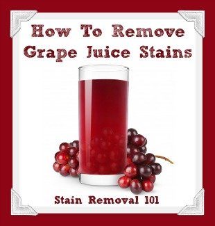 How To Remove A Grape Juice Stain