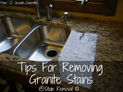 Tips For Removing Granite Stains From Countertops More - How to remove stains from bathroom countertops