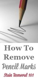 How To Remove Pencil Mark
