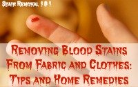 tips for removing blood stains from fabric