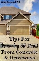 Tips For Removing Oil Stains From Concrete & Driveways