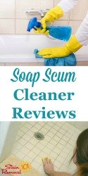 Soap Scum Cleaner Reviews