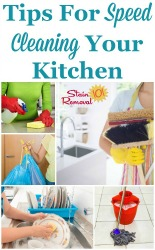 Tips For Speed Cleaning Your Kitchen