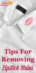 Stain Removal Lipstick Tips