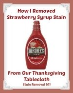 how I removed strawberry syrup stains