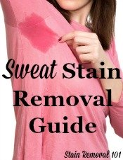 Sweat Stain Removal Guide