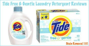 Reviews of Tide Free and Gentle detergent