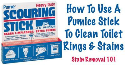 Use Pumice Stick Or Stone To Clean Toilet Ring
