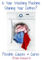 possible causes and cures of washing machine stains