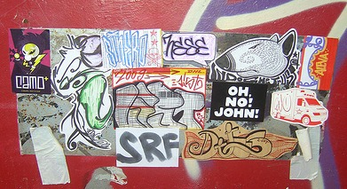 Stickers On Metal Surface