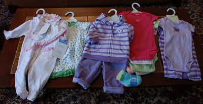 Stored baby clothes yellow stains