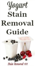 How To Remove Yogurt Stains